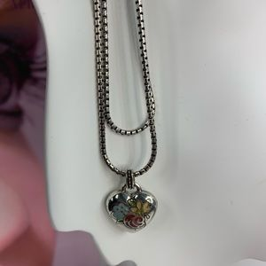 Brighton Jewelry - Brighton heart shape pendant necklace with floral